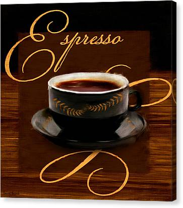 Espresso Passion Canvas Print by Lourry Legarde