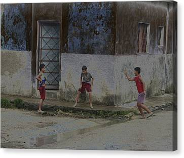 Canvas Print featuring the photograph Esquina by Aurora Levins Morales