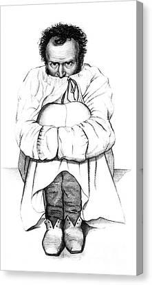 Esquirol Patient, Dementia, 1838 Canvas Print