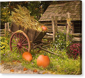 Red Roof Canvas Print - Essence Of Autumn  by Doug Kreuger