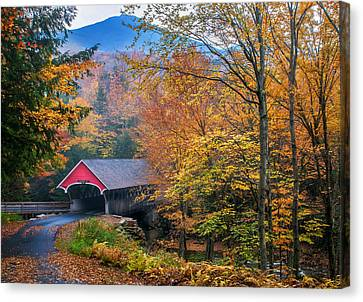 Covered Bridges Canvas Print - Essence Of New England - New Hampshire Autumn Classic by Expressive Landscapes Fine Art Photography by Thom