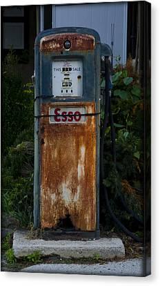 Esso Gas Pump Canvas Print by Bill Cannon
