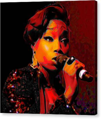 Rhythm And Blues Canvas Print - Estelle by  Fli Art