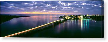 Estero Boulevard At Night, Fort Myers Canvas Print
