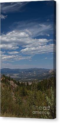 Estes Park In The Valley Canvas Print by Kay Pickens