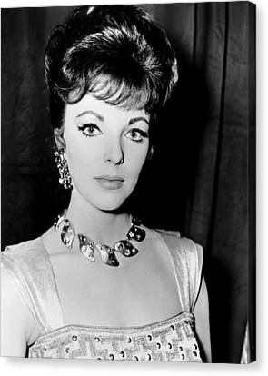 1960s Hairstyles Canvas Print - Esther And The King, Joan Collins by Everett