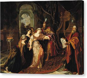 Esther Before Ahasuerus, Before 1697 Oil On Canvas Canvas Print by Antoine Coypel