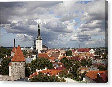 Openair Canvas Print - Estonia, Tallin, Overview Of The Old by Tips Images
