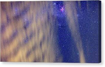 Carina Nebula Canvas Print - Eta Carina Nebula And Clouds by Luis Argerich