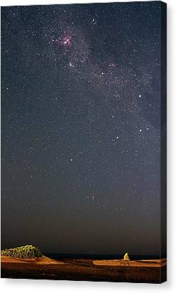 Nebula Canvas Print - Eta Carina Nebula Over A Beach by Luis Argerich