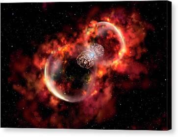 Carina Nebula Canvas Print - Eta Carinae Outburst by Gemini Observatory Artwork By Lynette Cook