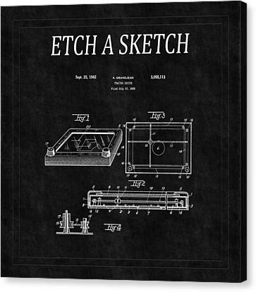 Etch A Sketch Canvas Print - Etch A Sketch Patent 2 by Andrew Fare