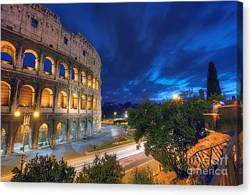 Eternal Blue Hour Canvas Print by Marco Crupi