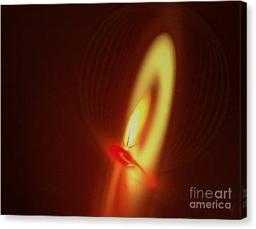 Canvas Print featuring the digital art Eternal Flame by Victoria Harrington