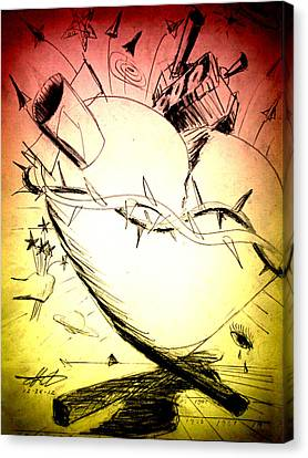 Eternal Heart - First Of Series Canvas Print by David De Los Angeles