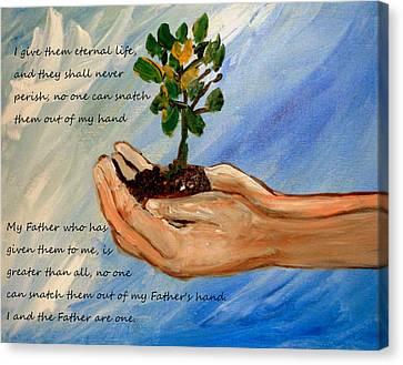 Eternal Life Canvas Print by Amanda Dinan
