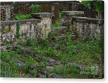 Eternal Outlines Of Stone Mark The Love Canvas Print by Wayne Nielsen