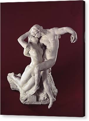 Hug Canvas Print - Eternal Springtime by Auguste Rodin