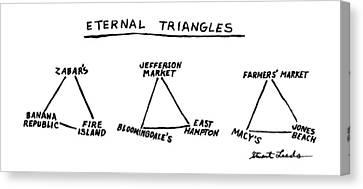 Eternal Triangles: Canvas Print by Stuart Leeds