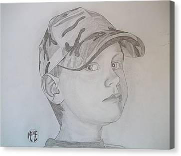 Canvas Print featuring the drawing Ethan Age 6 by Justin Moore
