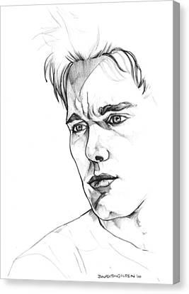 Ethan Hawke Canvas Print by John Ashton Golden