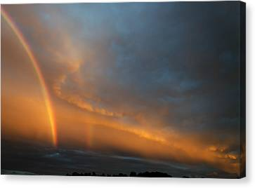 Ethereal Clouds And Rainbow Canvas Print by Greg Reed