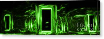 Ethereal Doorways Green Canvas Print
