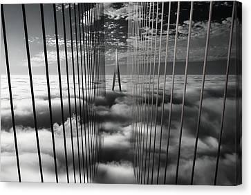 Sky Line Canvas Print - Ethereal Land Mark by Dr. Akira Takaue