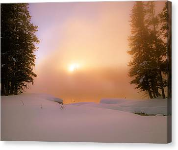 Ethereal Winter Sunrise Canvas Print