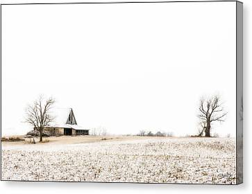 Ethereal Wintry Scene Canvas Print