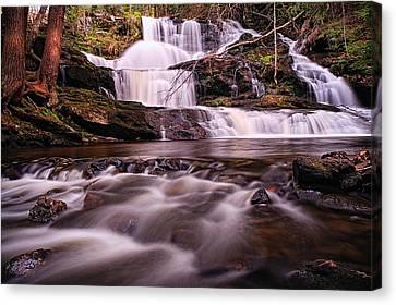 Ethereal Flow Garwin Falls Milford Nh Canvas Print by Jeff Sinon