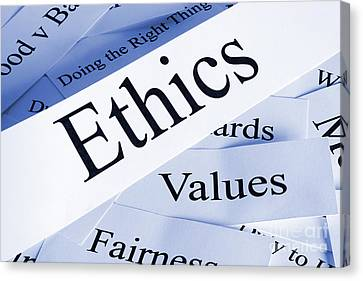 Ethics Canvas Print by Colin and Linda McKie
