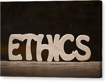 Ethics Canvas Print by Donald  Erickson