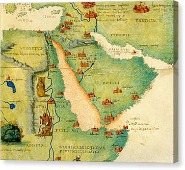 Ethiopia, The Red Sea And Saudi Arabia, From An Atlas Of The World In 33 Maps, Venice, 1st Canvas Print by Battista Agnese