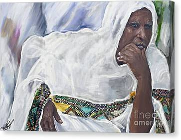 Ethiopian Orthodox Jewish Woman Canvas Print