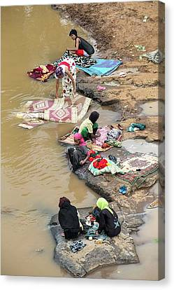 Ethiopian River Scene Canvas Print