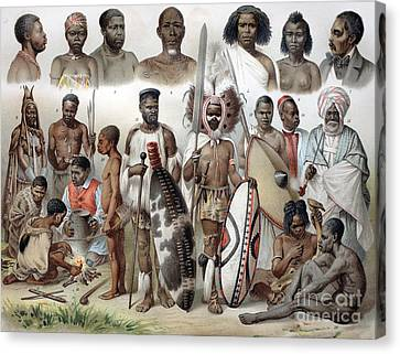 Ethnic Groups Of Africa, 1880s Canvas Print