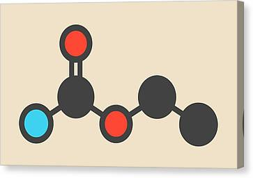 Booze Canvas Print - Ethyl Carbamate Carcinogenic Molecule by Molekuul