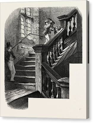 Eton, Staircase To The Upper School, Uk, Britain Canvas Print by English School