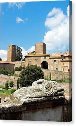 Etruscan Sarcophagus, Tuscania, Viterbo Canvas Print by Nico Tondini