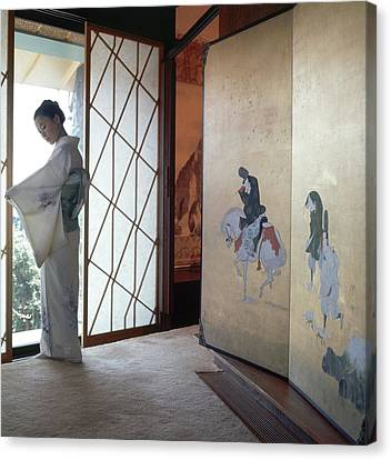 Etsuko Price At The Front Door Canvas Print