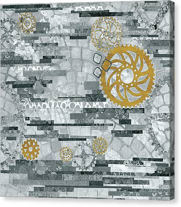 Eu Timetable I Bw Canvas Print by Kathy Ferguson
