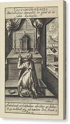 Eucharist, Jacob De Weert Canvas Print by Artokoloro