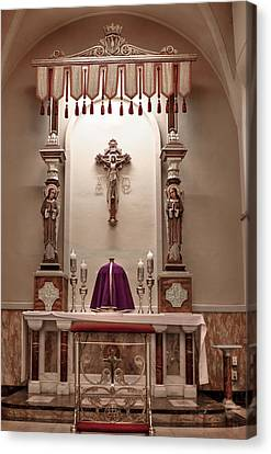 Canvas Print featuring the photograph Eucharistic Altar by Cecil Fuselier