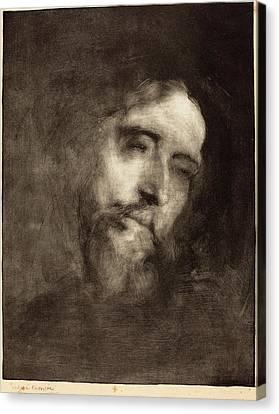Eugène Carrière French, 1849 - 1906, Alphonse Daudet Canvas Print by Quint Lox