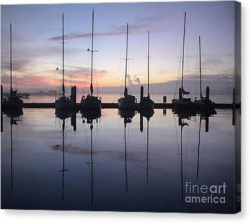 Eureka Harbor At Sunset Canvas Print