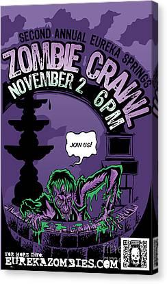Eureka Springs Zombie Crawl 2013 Canvas Print