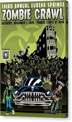 Eureka Springs Zombie Crawl 2014 Canvas Print