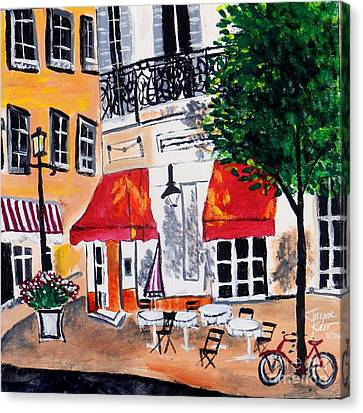 Euro Cafe Canvas Print
