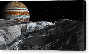 Europa Icefields Canvas Print by David Robinson